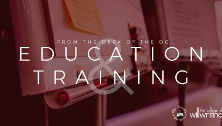 From The Desk Of The DG – Education and Training