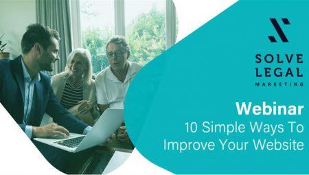 Webinar: 10 Simple Ways To Improve Your Website