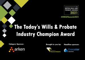 Arken.legal sponsors Today's Wills and Probate Industry Champion Award