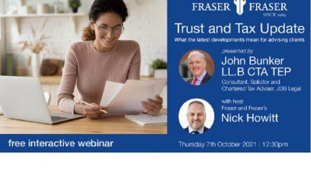 Webinar – Trust and Tax Update; understanding latest developments